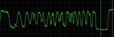 Осциллограмма лямбда - зонда