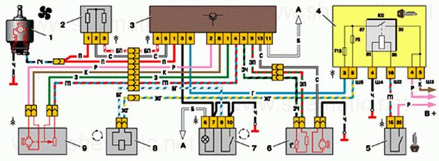Схема автономных систем