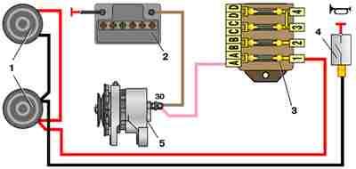 Схема подключения звукового сигнала ВАЗ 2101
