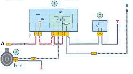 Схема включения звукового сигнала ВАЗ 1117