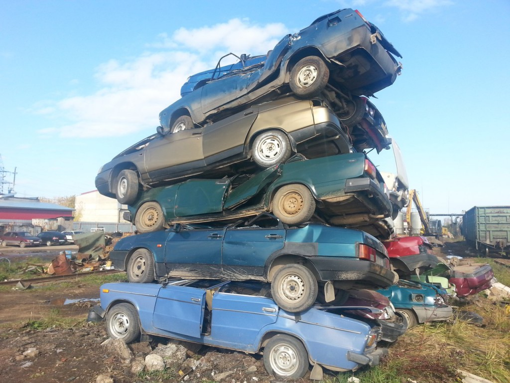 утилизацированные автомобили фото