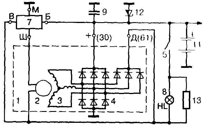Схема генератора на ВАЗ