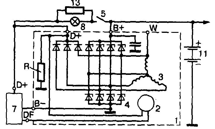 Схема генератора на иномарку