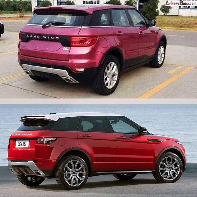LandWind X7 и Range Rover Evoque фото