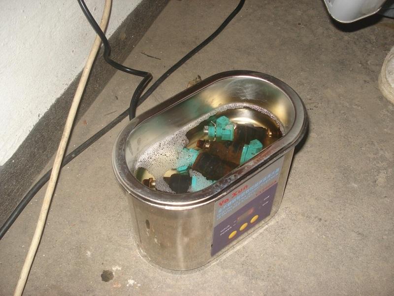 Чистка форсунок в ультразвуковой ванне