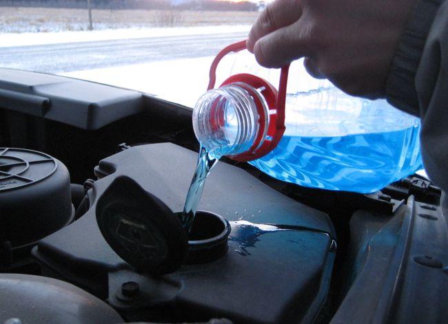 Фото использования незамерзающей жидкости