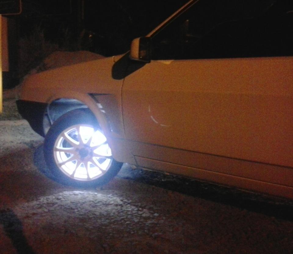 Подсветка колёс на ВАЗ 2108