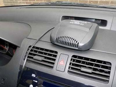 установка вентилятора с обогревом в машину для комфорта