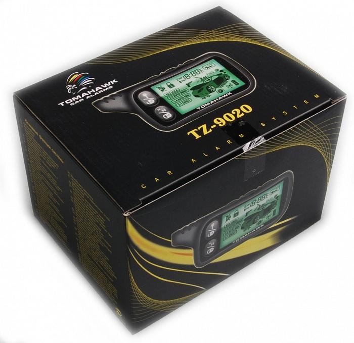 на фото коробка от сигнализации Томагавк TZ-9020