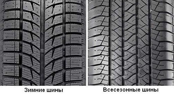 отличие зимних шин от всесезонных фото