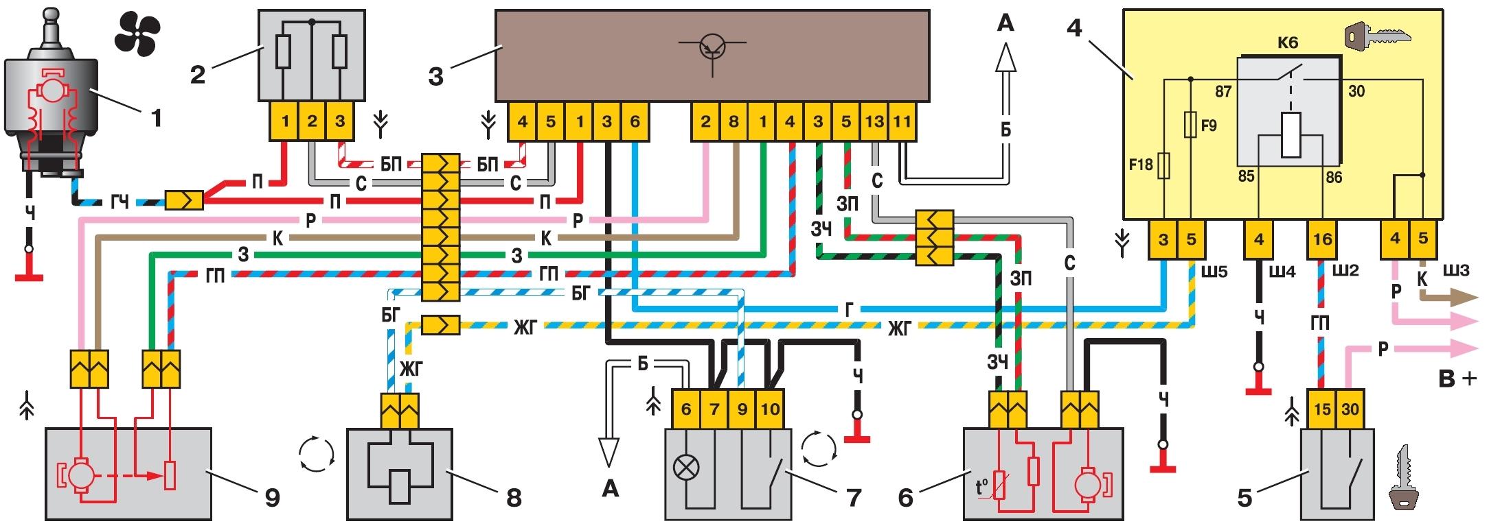 на фото схема отопления ВАЗ