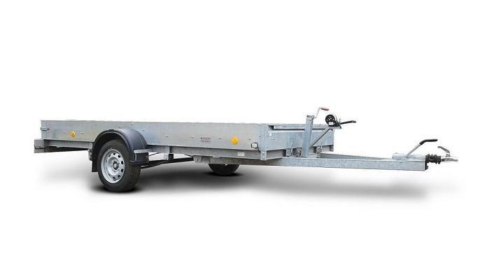 Одноосный прицеп для перевозки одного либо двух спортивных снегоходов, квадроцикла фото