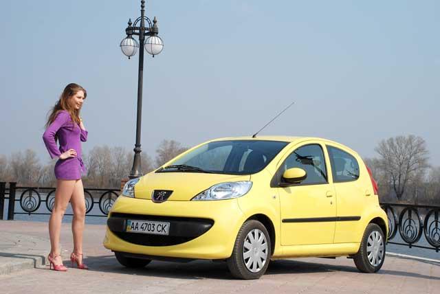 Peugeot 107 нравится многим женщинам