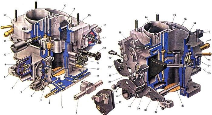 Схема карбюратора солекс 2108 фото 244
