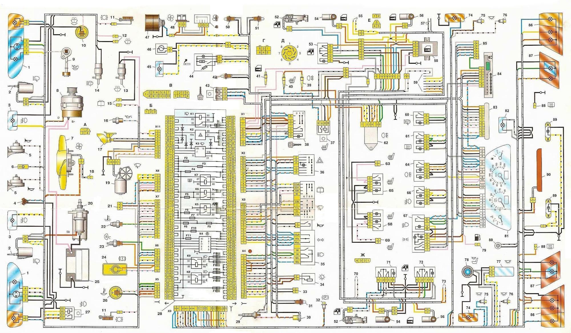 схема электрооборудования ваз 2115