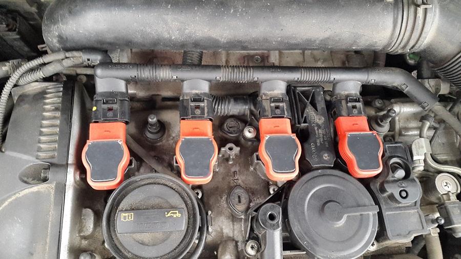 Как заменить катушку зажигания на Skoda Octavia A5
