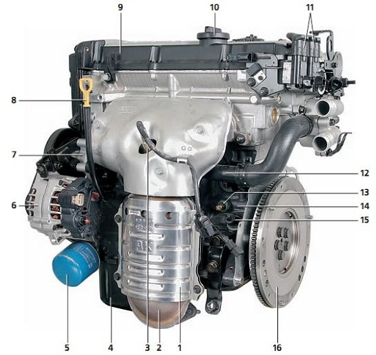 Hyundai Elantra 1.6 G4ED мотор