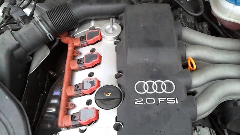 Ауди А4 2.0 FSI двигатель