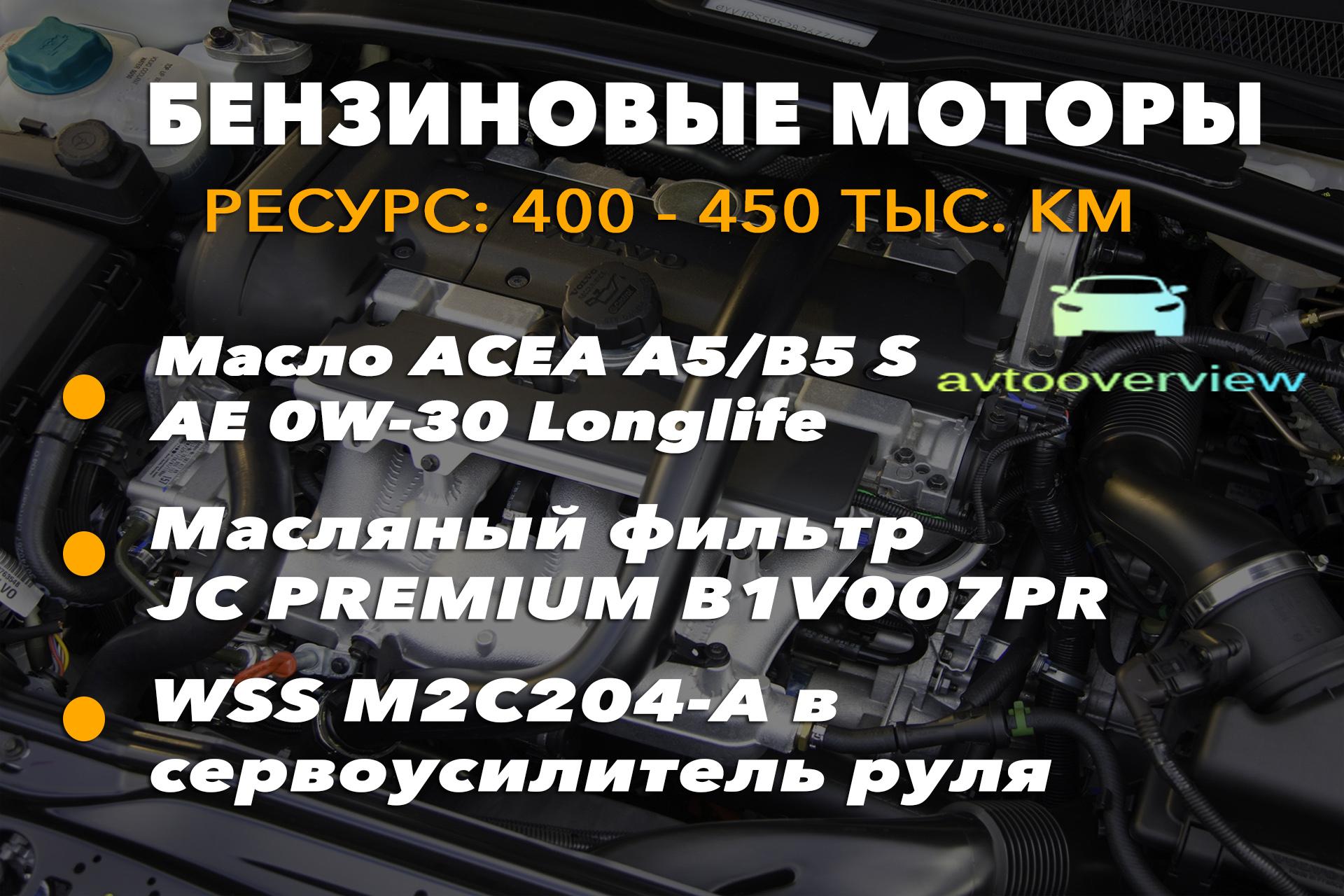 Ресурс бензиновых двигателей Volvo XC90