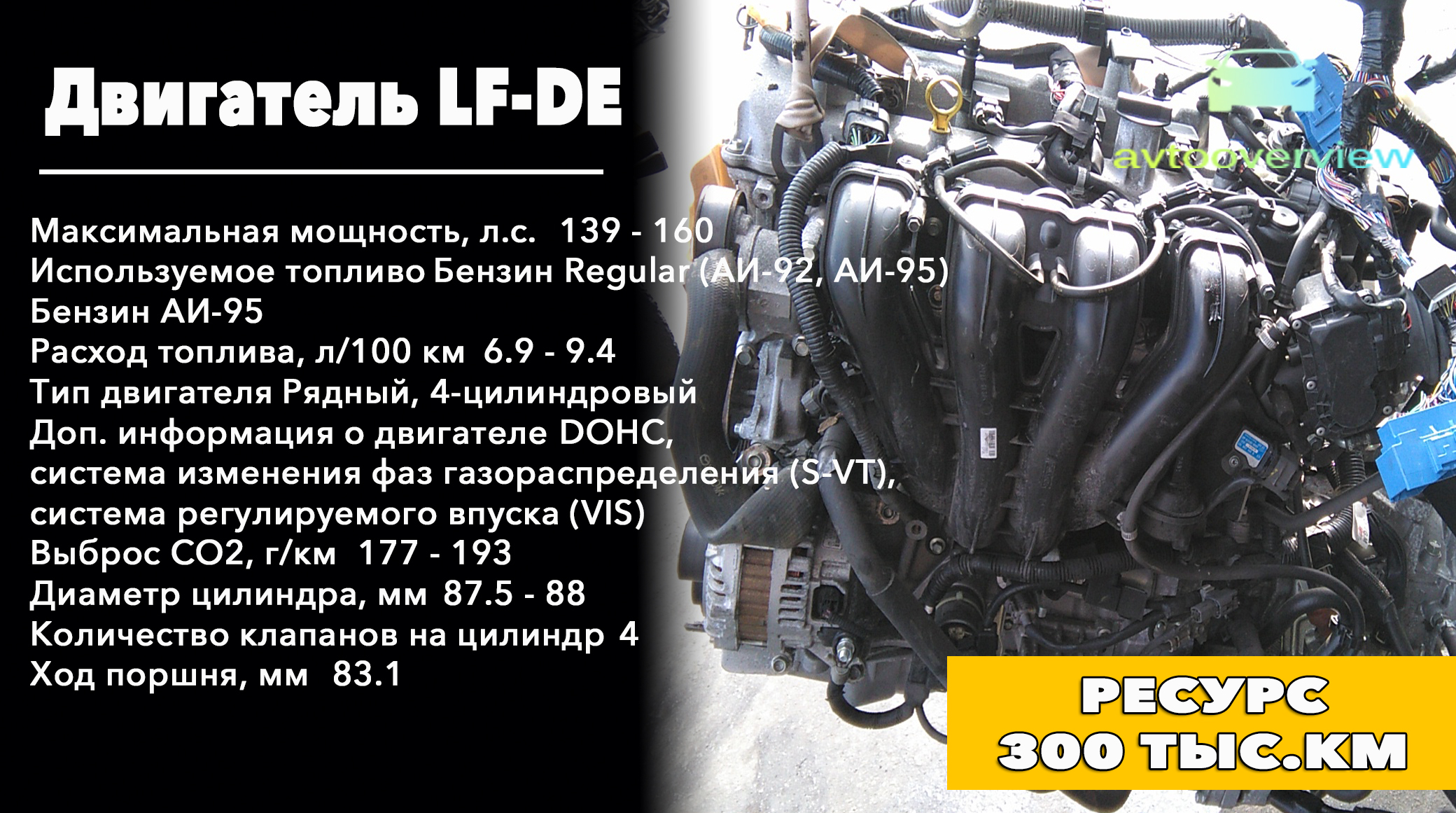 Особенности и ресурс LF-DE